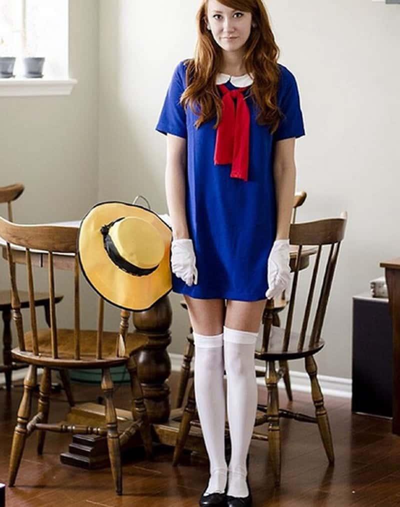 last minute halloween costume: Madeleine (book character)