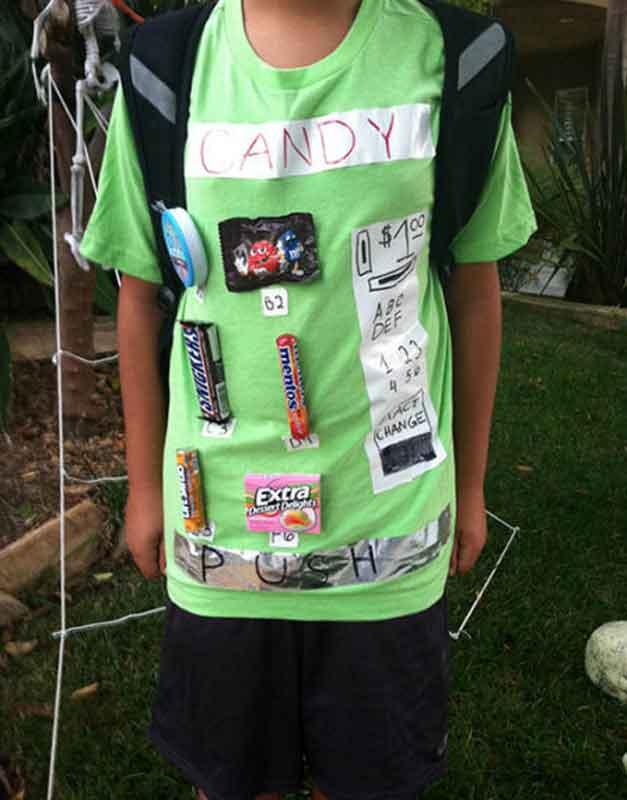 last minute halloween costume idea - candy vending machine