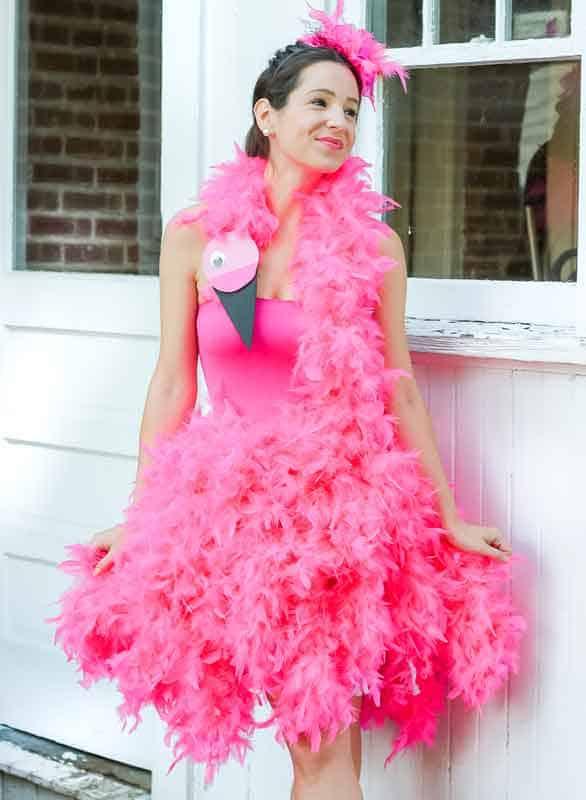 last minute halloween costume idea - pink flamingo
