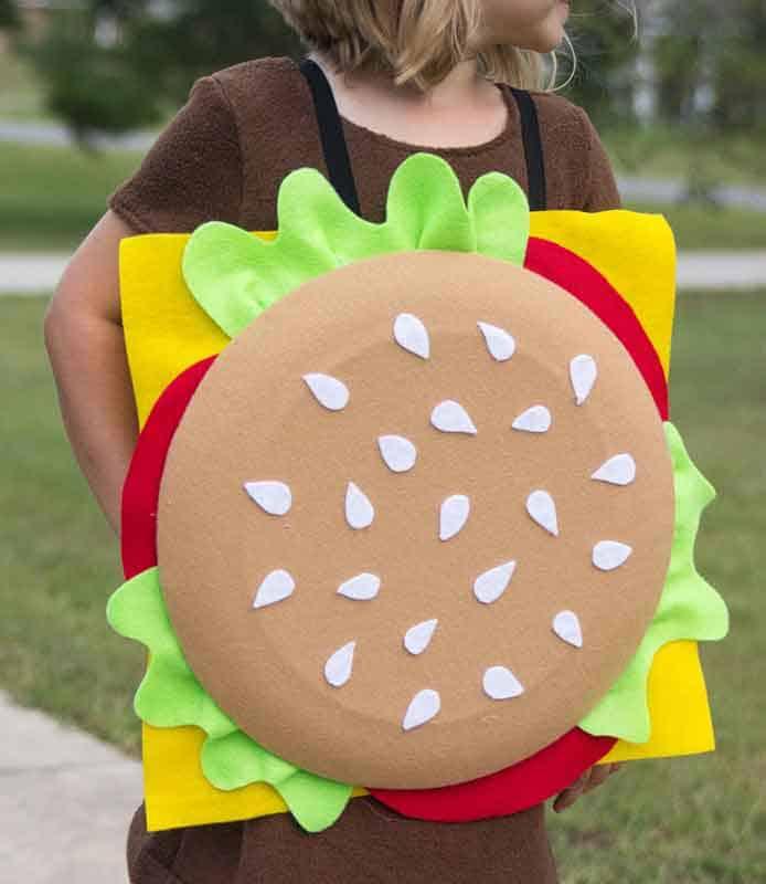 hamburger sandwich board last minute halloween costume
