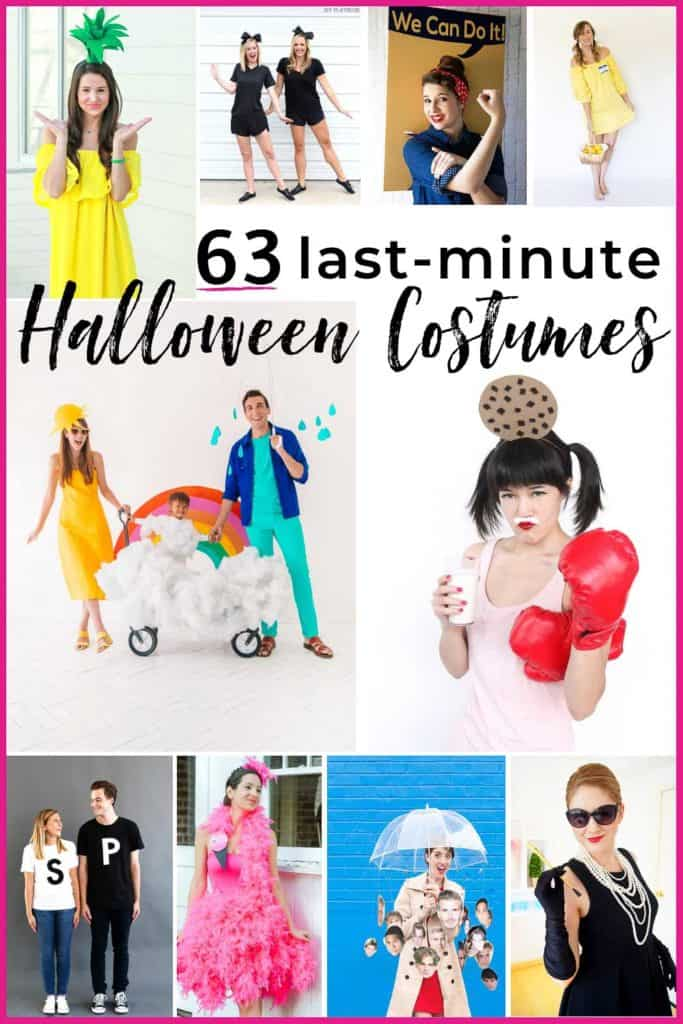 63 last minute halloween costumes that don't look like an afterthought. Family, couple, kids and adult costume ideas that you can put together in a flash. #halloweencostumes #lastminutehalloweencostumes #halloweencostumeideas #easyhalloweencostumeideas #halloween #costumes