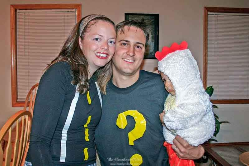 halloween costumes last minute - why did the chicken cross the road?