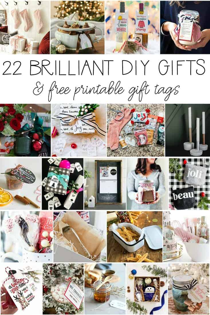 22 festive Christmas DIY gift ideas and free printable gift tags and wine tags from favorite bloggers! #christmas #freeprintablegifttags #DIYgiftideas #christmasdiygifts #freeprintablewinetags #christmasgifttags #DIYchristmasgifts