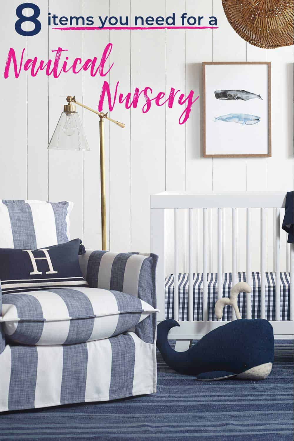 Design a nautical nursery that complements your home decor with these 8 decor essentials. Gorgeous looks from Serena & Lilly will grow with your baby for years to come. #serenaandlily #nauticalnursery #nurseryinspiration