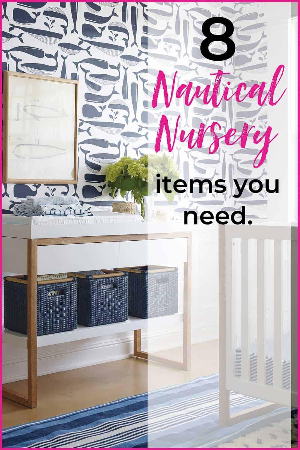 8 Elements You Need for a Perfect Nautical Nursery Now! If you've been struggling to pull a plan together for a coastal nursery or nautical inspired nursery for your little one, here's your plan! #nauticalnursery #coastalnursery #nauticalnurseryideas #nauticalnurserydecor #coastalnurseryideas #coastalnurserydecor