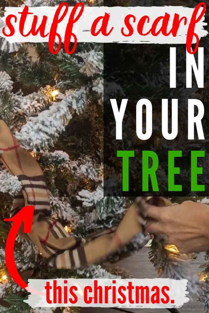 Easy, Gorgeous & Unique Christmas Tree Garland Idea! Use Winter Scarves!
