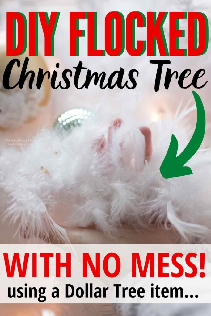 Flock Your Christmas Tree WITHOUT the Mess!