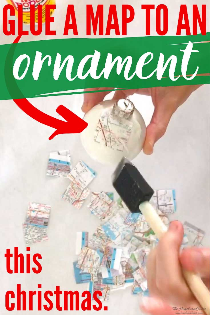 Map Homemade Christmas Ornaments are easy to make (but no one will guess-shhh!). Mark a hometown or other special place & give your loved one the world