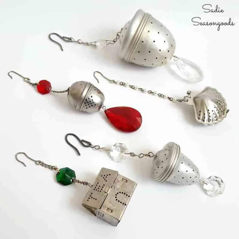 vintage tea strainer ornaments