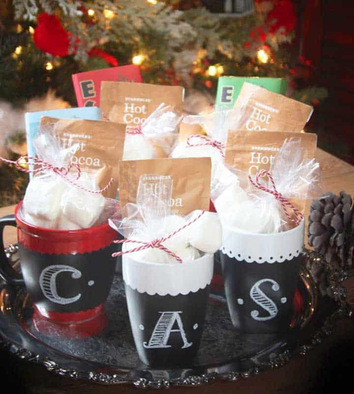 chalkboard hot cocoa mug gifts