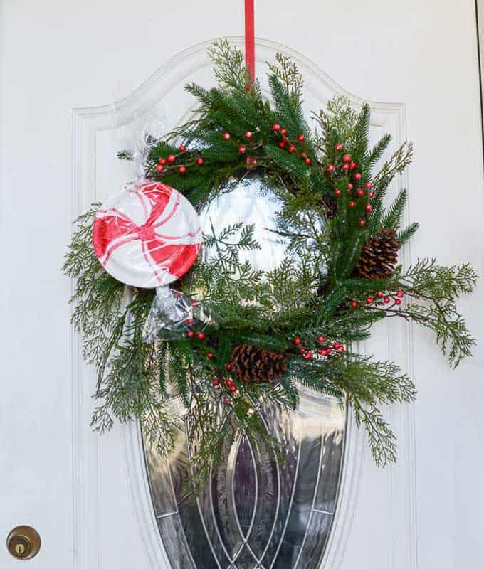 christmas front door wreath