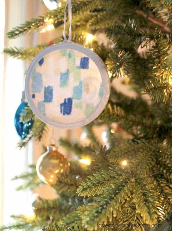 abstract art fabric embroidery hoop ornaments