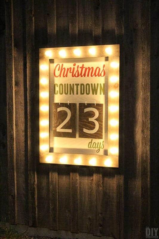 light up countdown calendar