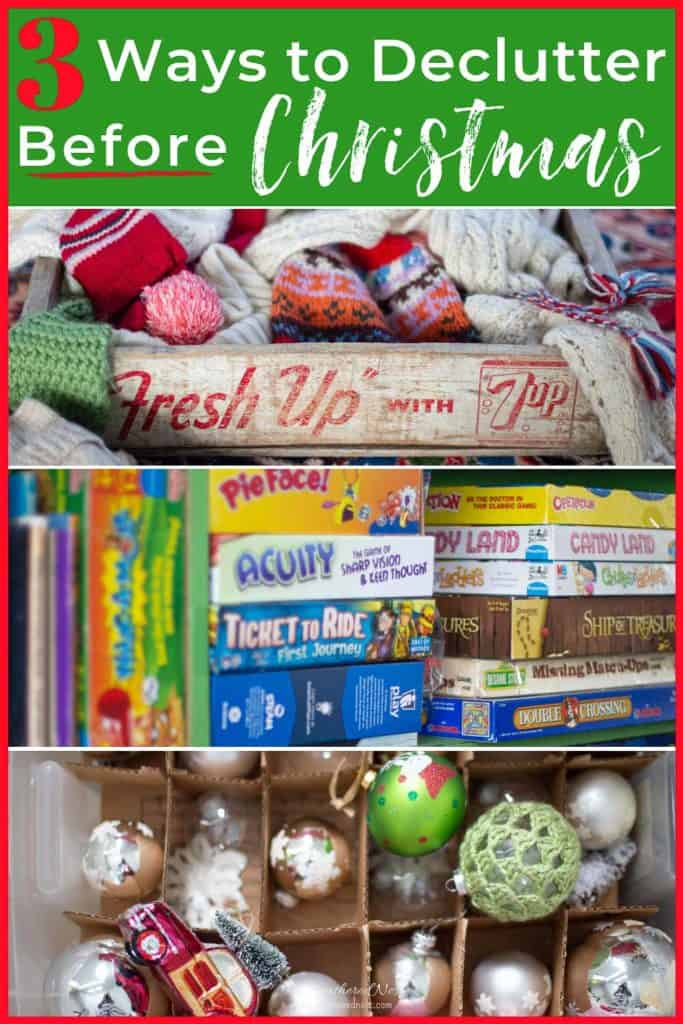 3 Places to Purge before the Christmas gifts pour in! #declutteringtips #declutter #howtoorganizeforChristmas #decreaseholidaystress #declutterandorganizeforchristmas #declutteringideasfeelingoverwhelmed