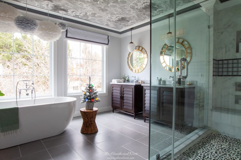 master bathroom for the holiday home tour