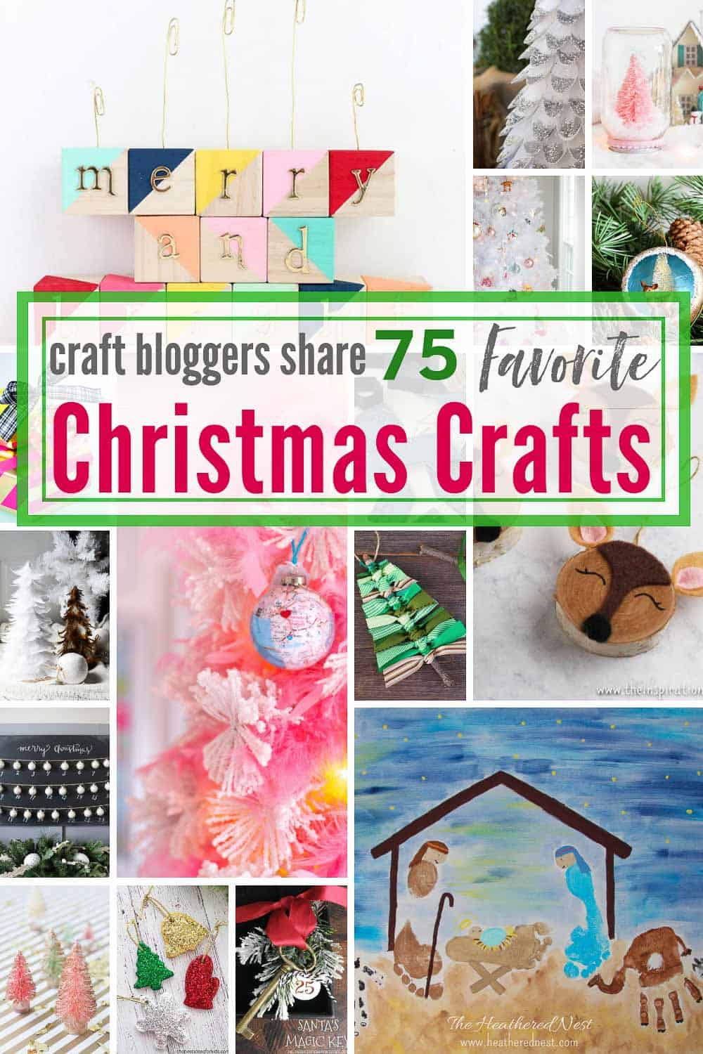 Talented Craft & Home Decorating bloggers shared their 75 FAVORITE easy Christmas Crafts, and here they are!! #easychristmascrafts #christmascraftideas #DIYchristmascrafts #DIYchristmasornaments #DIYchristmasdecor #christmasdecoratingideas #easychristmascraftstomake #easychristmascraftsforkids #easychristmascraftsforgifts