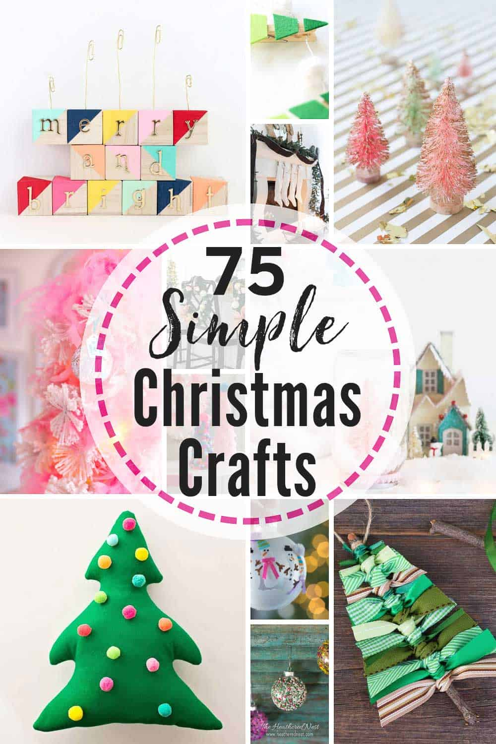 75 Easy Christmas Crafts That Bloggers Love. | The Heathered Nest