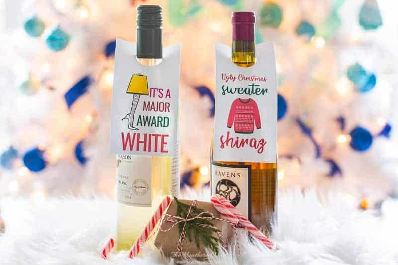 printable wine tags for the holidays