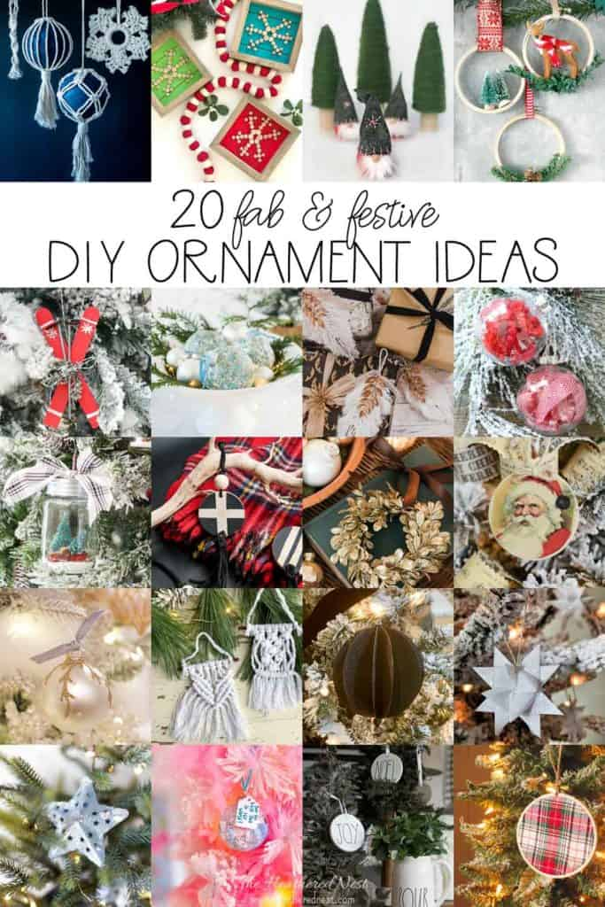You will LOVE these 20 homemade Christmas ornament ideas!! Great ideas for Christmas crafts to do over the holiday season! #DIYChristmasOrnaments #homemadechristmasornaments #ChristmasOrnamentIdeas #DIYOrnamentIdeas #HomemadeOrnamentIdeas #Christmas #ChristmasTree