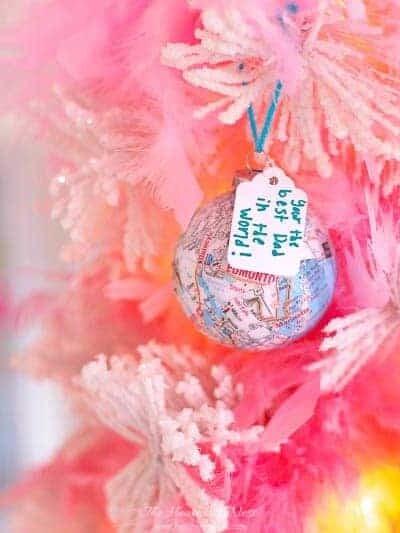 Map Homemade Christmas Ornaments