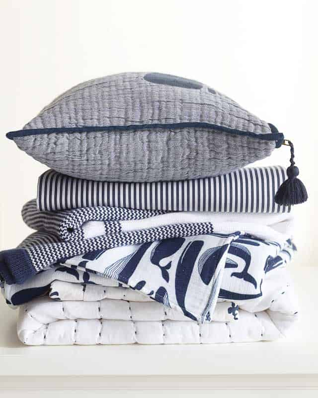 nautical inspired baby bedding, blankets and decor from Serena & Lily