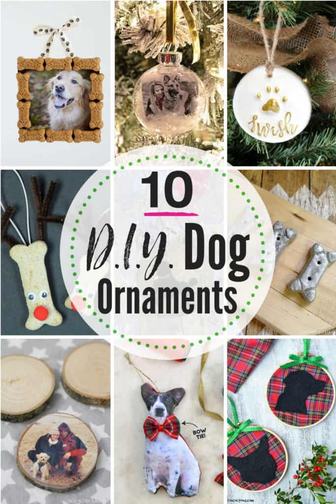 10 DIY dog ornaments for the pet lover, dog mom or dog dad in your life! Check out these 10 easy DIY ornament crafts for pets. #dog #ornament #christmas #dogornamentideas #dogornaments #DIYchristmasornaments #petornament #DIYdogornaments #DIYdogcrafts