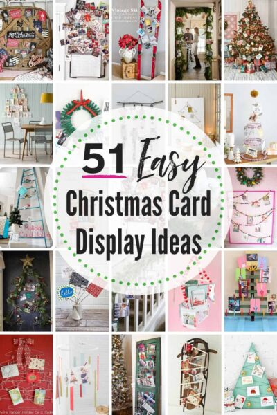 50+ BEST Christmas Card Display Ideas! These easy DIY ideas will hold your Christmas cards all holiday season and display them beautifully! #Christmas #ChristmasCardIdeas #ChristmasCardDisplayIdeas #ChristmasCardHolders #DisplayChristmasCards #ChristmasCardDisplays #DIYChristmasCardHolder #ChristmasCardDisplay #ChristmasCardDisplayHolder #ChristmasCardDisplyDIY