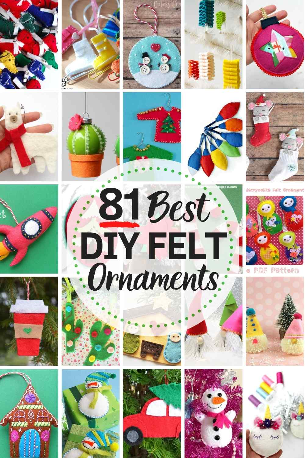 81 Best Diy Felt Christmas Ornaments The Heathered Nest