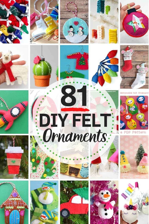 81 BEST DIY Felt Christmas Ornaments