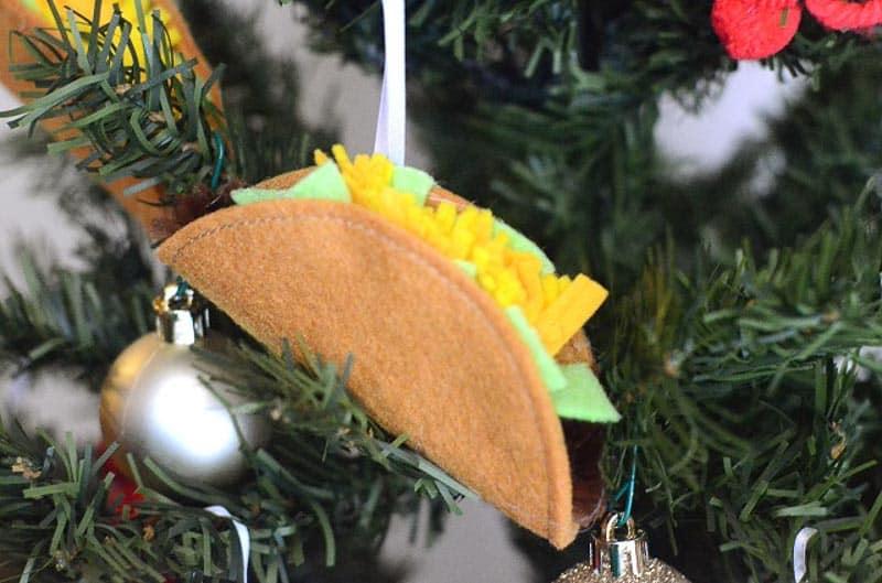 taco felt Christmas ornaments