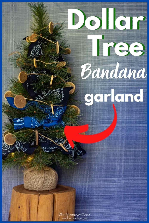 Easy Dollar Tree Bandana DIY garland decoration!