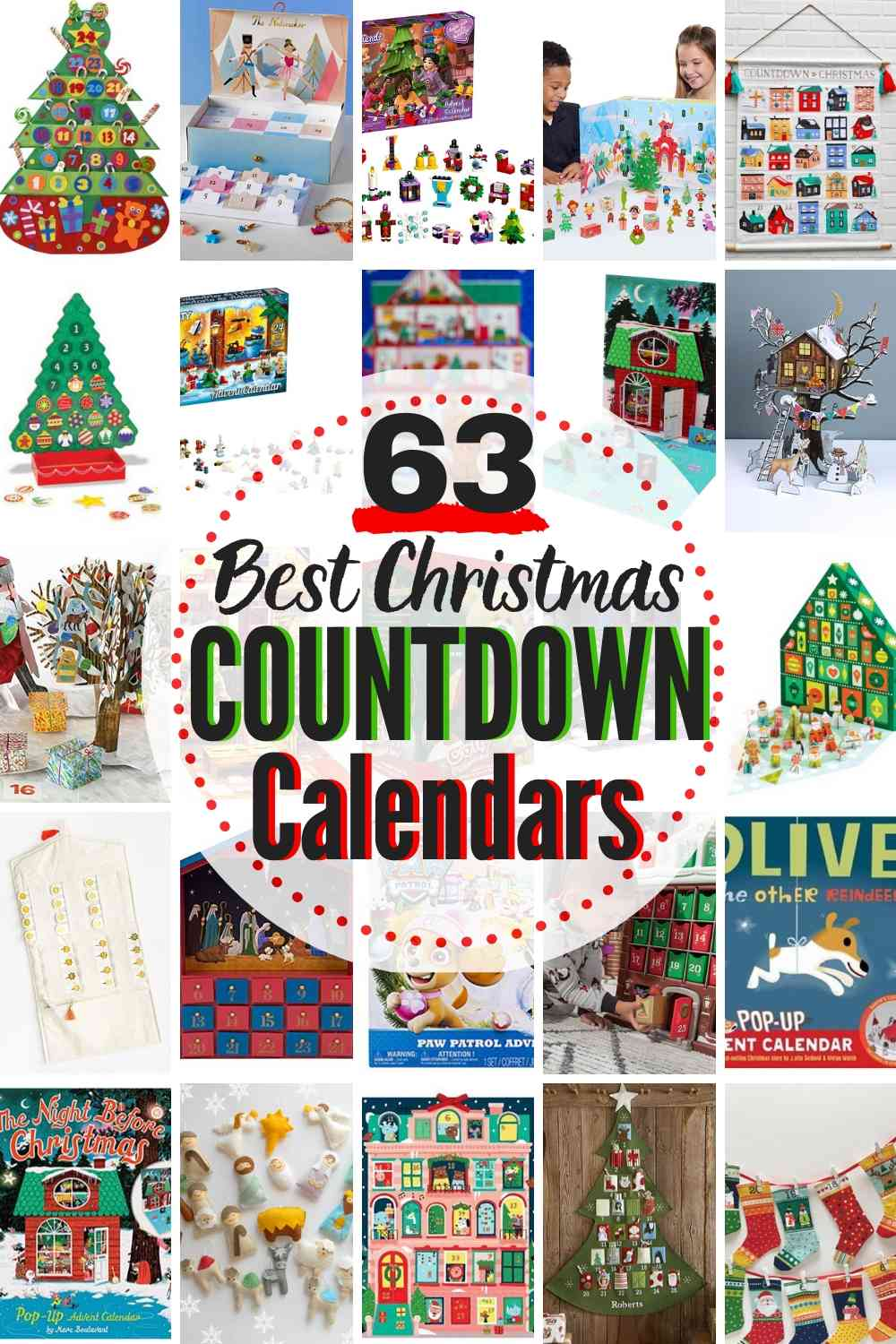 63 MOST FUN Christmas Countdown Calendars For Kids!
