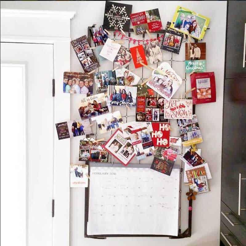 51 Awesome Christmas card display ideas!
