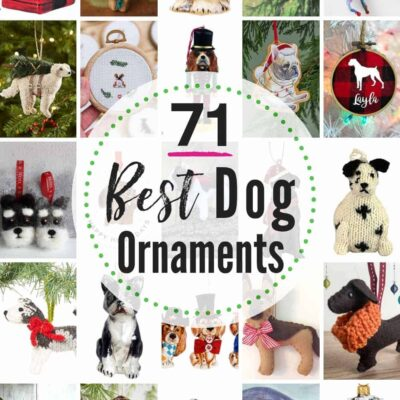 71 BEST dog ornaments to buy + 10 more options to DIY! Looking for that perfect pet ornament? We weeded through all the cheesy to find the sweetest dog ornaments (from all breeds) available. Dog portrait ornaments, needlepoint ornaments, glass ornaments, felt ornaments and more. #dogornament #dogornaments #petornament #petornaments #christmasornaments #dogchristmasornaments #petgiftideas #DIYdogornaments #DIYpetornaments #DIYchristmasornamentsforpets #dogs #pets #dogchristmas #petchristmas #Christmas #ornaments #dog #pet