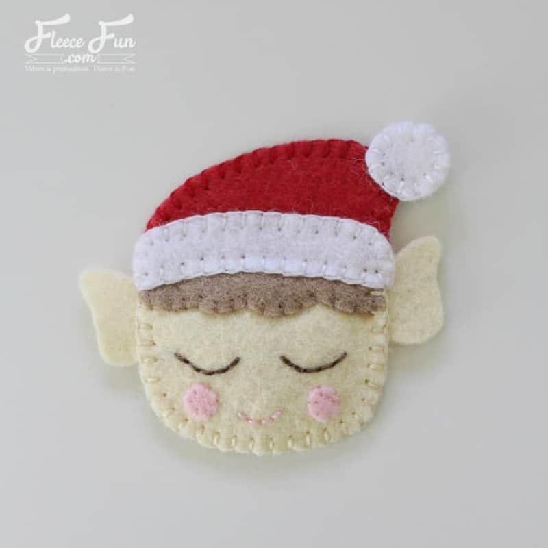 elf on a shelf inspired felt Christmas ornaments