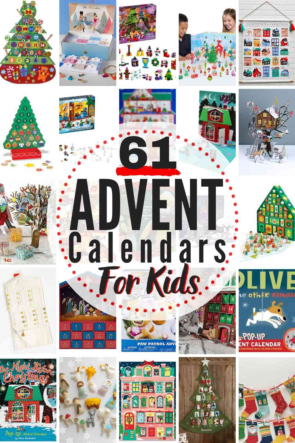 61 BEST Advent Calendars for Kids!! Opening the advent calendar each day is a wonderful Christmas tradition that ushers in joy and excitement each holiday season! Adorable options for advent calendars geared towards kids, but will be loved by the whole family! #Advent #AdventCalendar #Christmas #ChristmasTradition #familytradition #shoppingguide #AdventCalendars #ChristmasTraditionIdeas