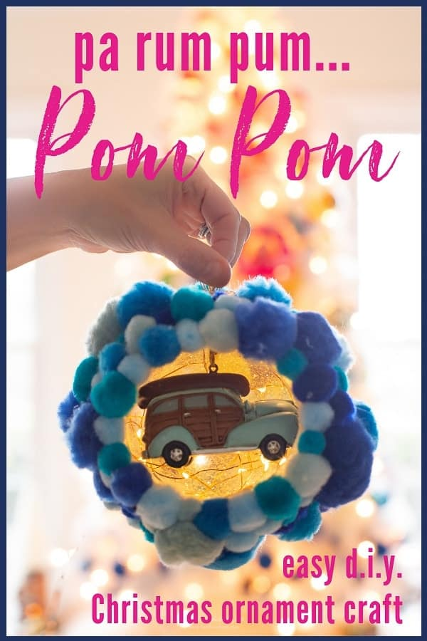 Easy pom pom Christmas tree ornament craft! Make this DIY Christmas tree ornament and highlight a favorite Christmas trinket inside. The inside ornament is interchangeable! #DIYChristmasornament #pompomChristmascraft #pompomchristmasornament #DIYchristmastreeornament #pompomcraft #pompomballornament #GorillaTough #GorillaOfCourse #ad #pompomscraft #easyDIYChristmasTreeOrnamentIdea #colorfulchristmasornamentidea #pompoms #Christmas #DIY #ornament