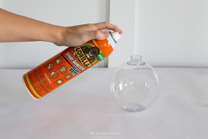 We used Gorilla Heavy Duty Spray Adhesive for this DIY Christmas Ornament project.