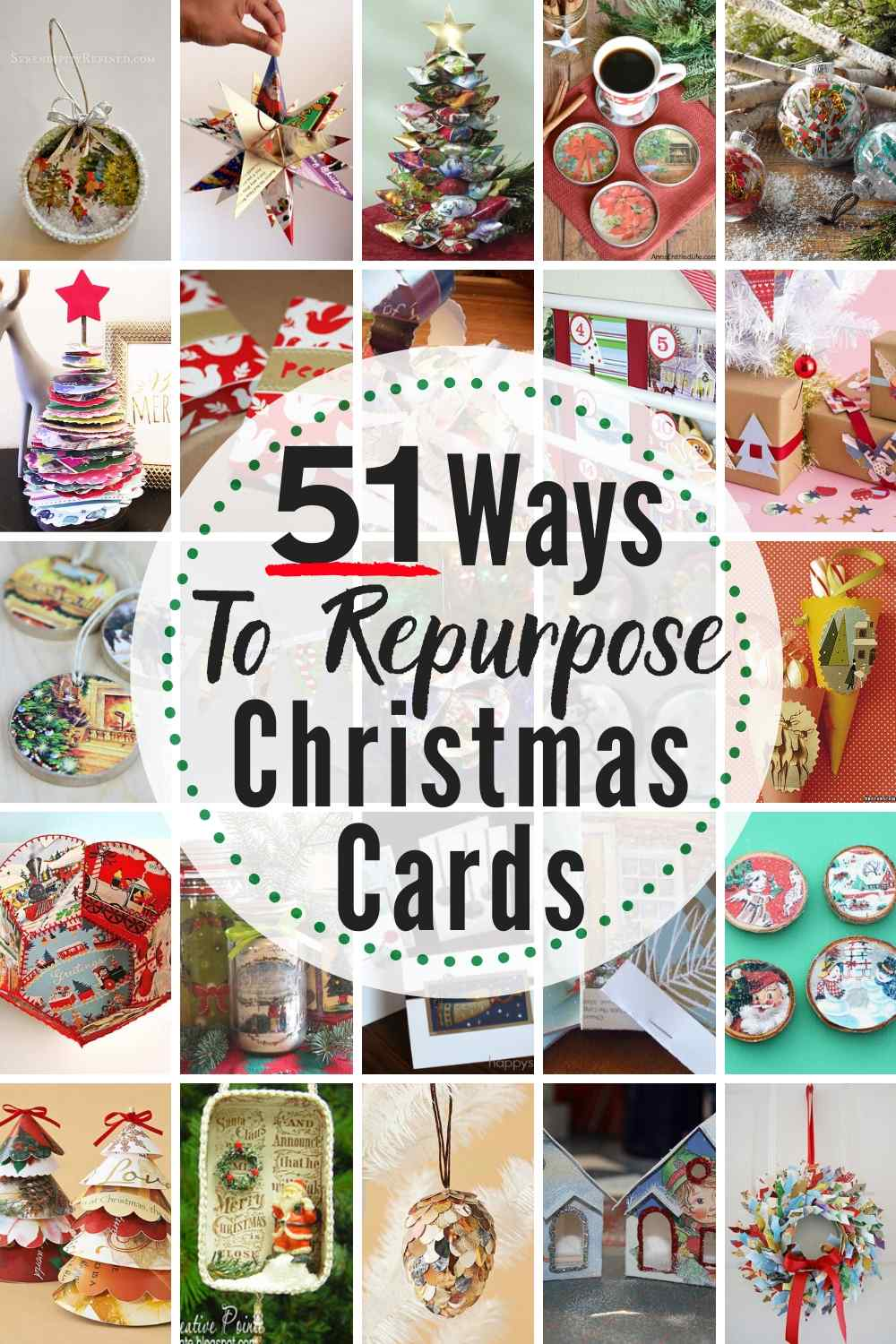 51 EPIC Ways To Reuse & Repurpose Old Christmas Cards Right Now!