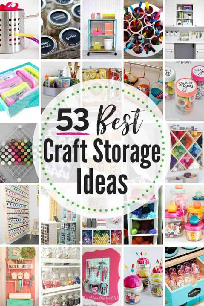 53 Best Creative Craft Storage Ideas! Get those crafting supplies organized in a flash with these great DIY craft organization tips & tricks