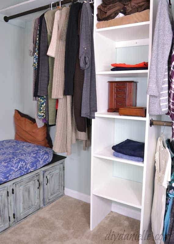 Closet Organizer Ideas: on a budget? DIY your own closet organizer system rather than buying off the shelf