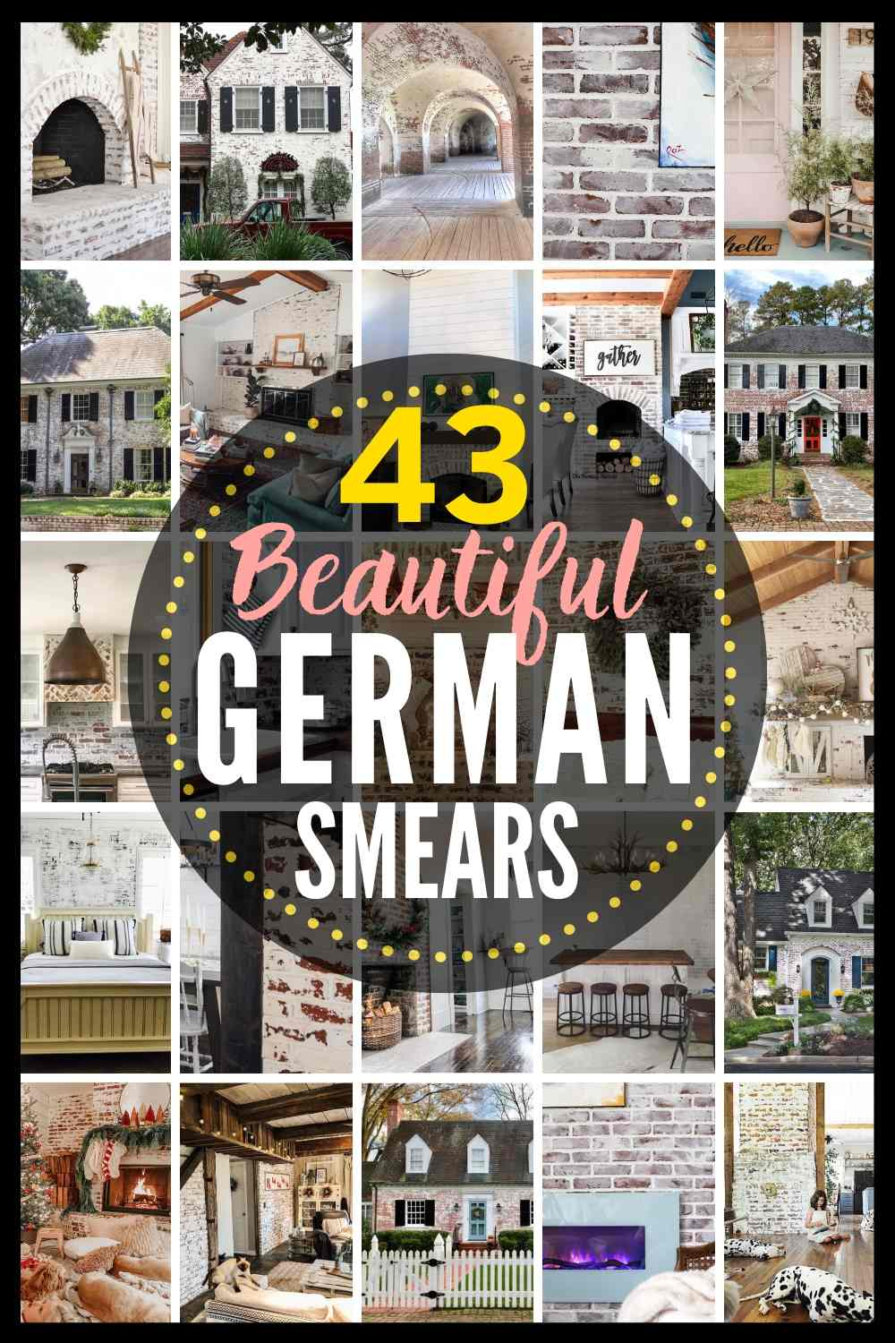 """43 Beautiful German Smears"" with grid of 20 images of different german schmear projects"
