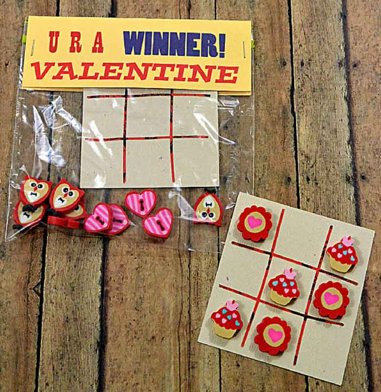 valentines day card ideas: tic-tac-toe board printables
