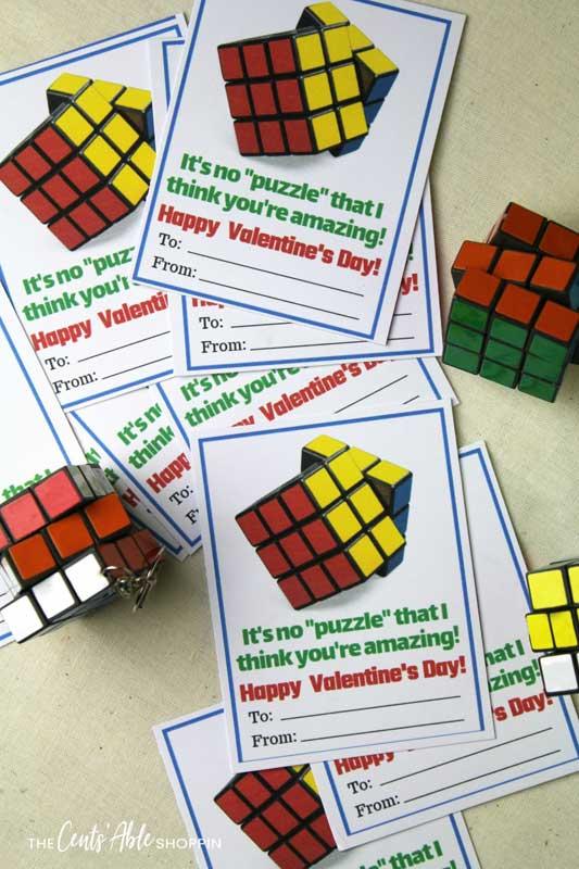 valentines day card ideas: rubiks cube printable