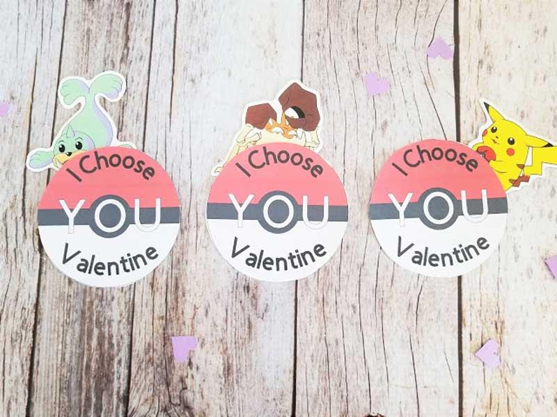 valentines day card ideas: pokemon printable cards