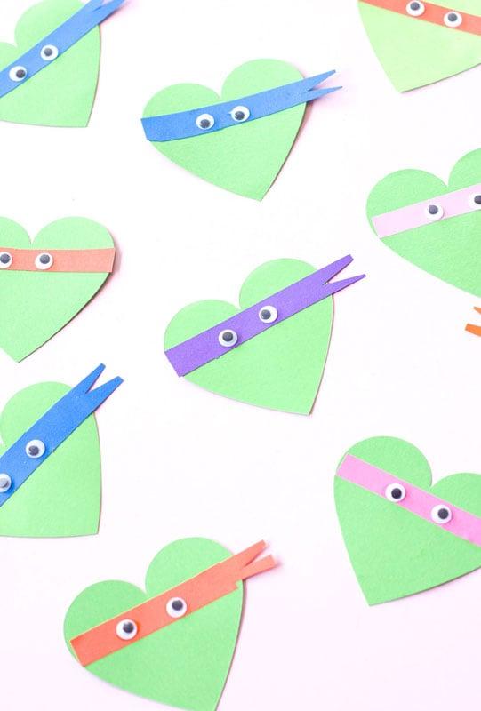 valentines day card ideas: TMNT heart printables