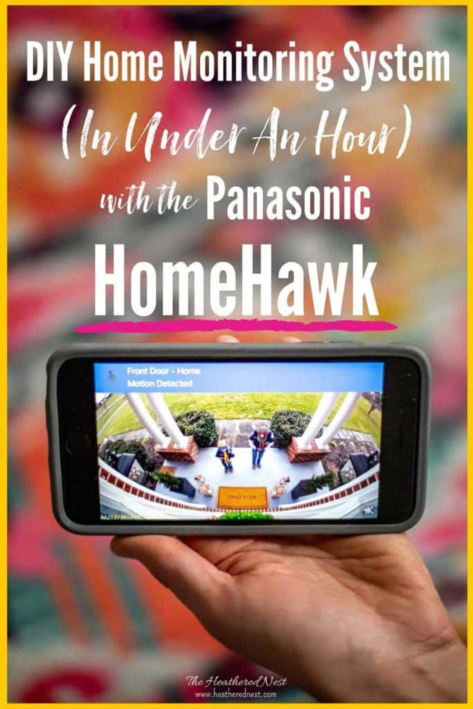 Review of the Panasonic HomeHawk Home Monitoring System + step-by-step DIY installation instructions. This system is very budget-friendly and user-friendly. Works like a charm to keep porch pirates at bay! PLUS no monthly fees! #homesecuritysystem #homemonitoringsystem #HomeHawk #Panasonice #DIYsecuritysystem #DIYhomemonitoring #homesecurity #homesecurityideas #homesecuritycamera #ad