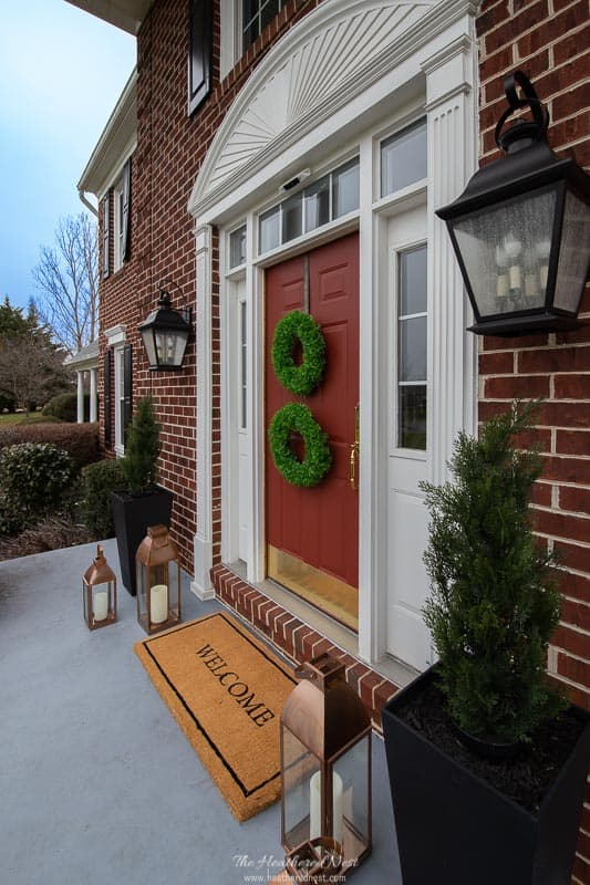 Side view of front door with Panasonic Home Hawk Home Monitoring System camera installed