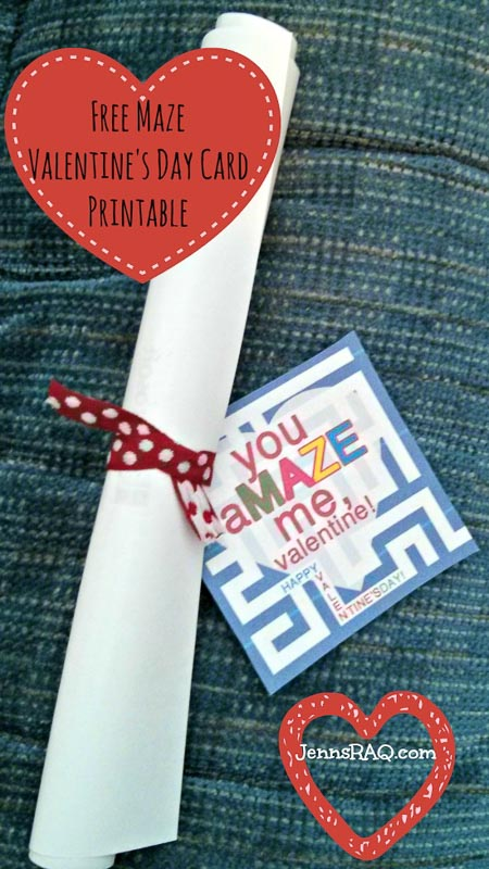 valentines day card ideas: a printable maze