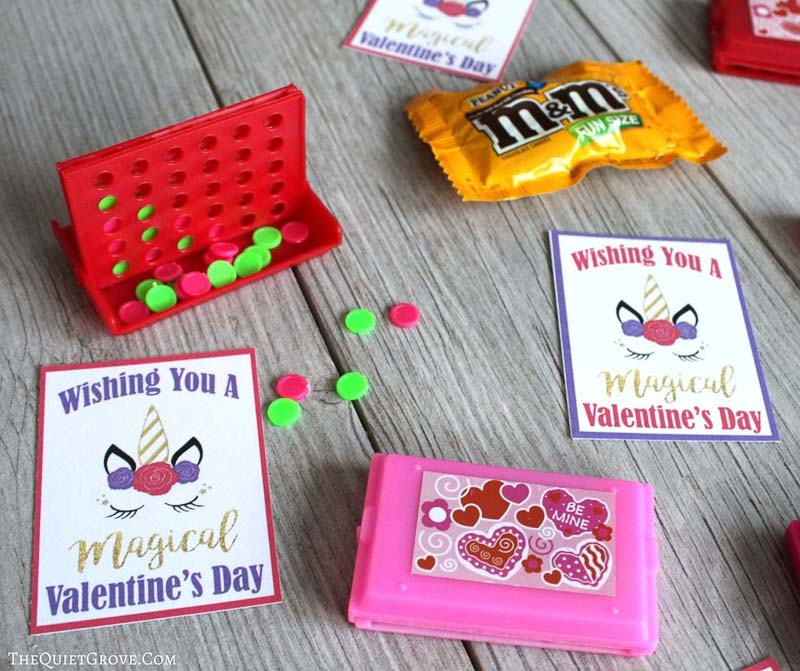 """valentines day card ideas: unicorn card """"wishing you a magical valentines day"""""""